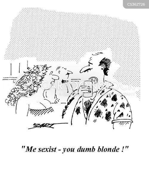 dumb blondes cartoon