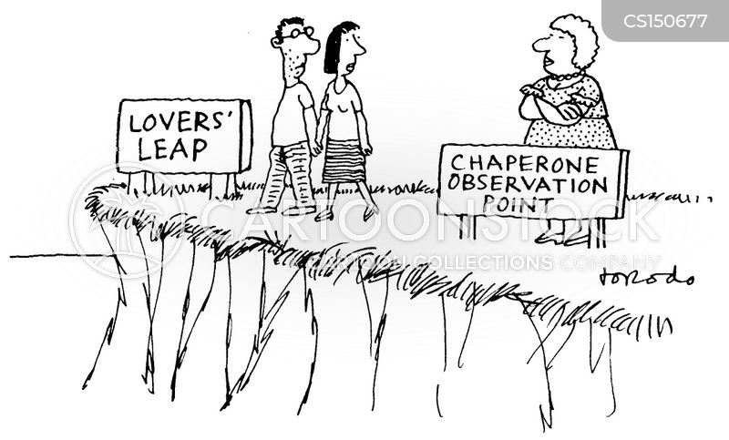 clifftop cartoon