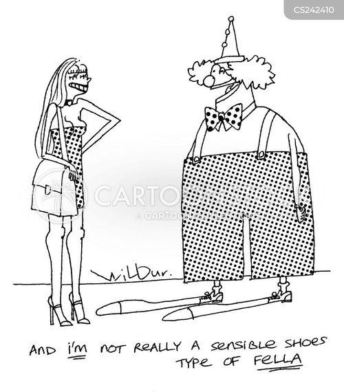 sensible shoes cartoon