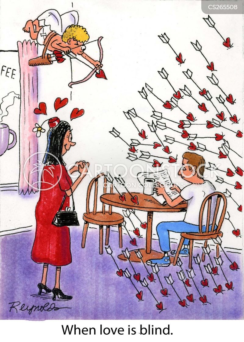 blind love cartoon