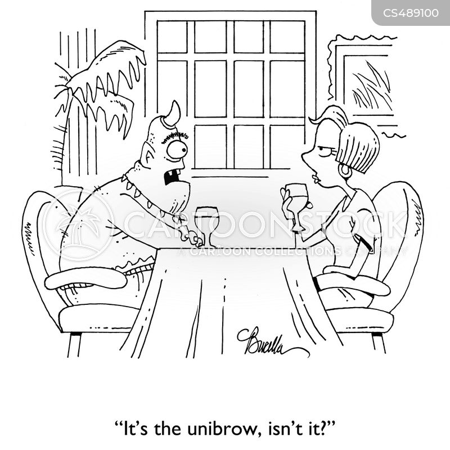 unibrows cartoon