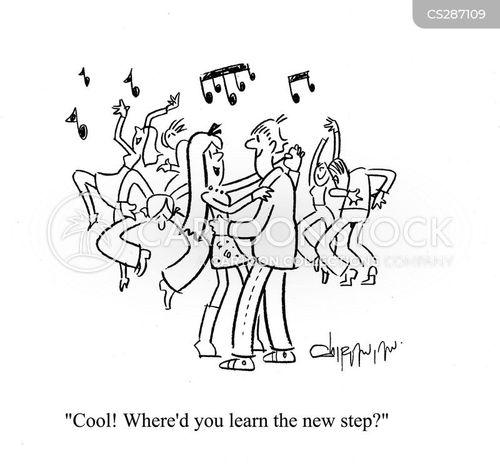 dance steps cartoon