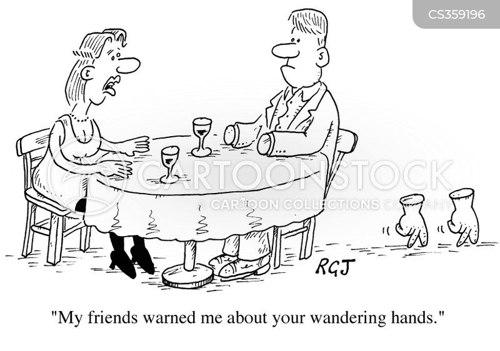wandering hands cartoon