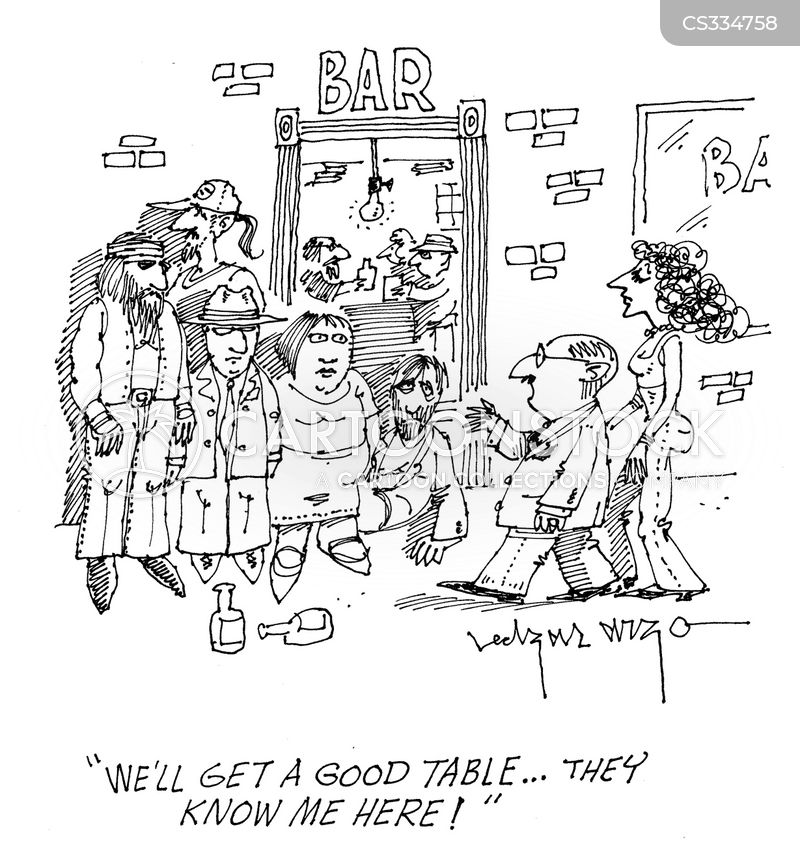 bar food cartoon