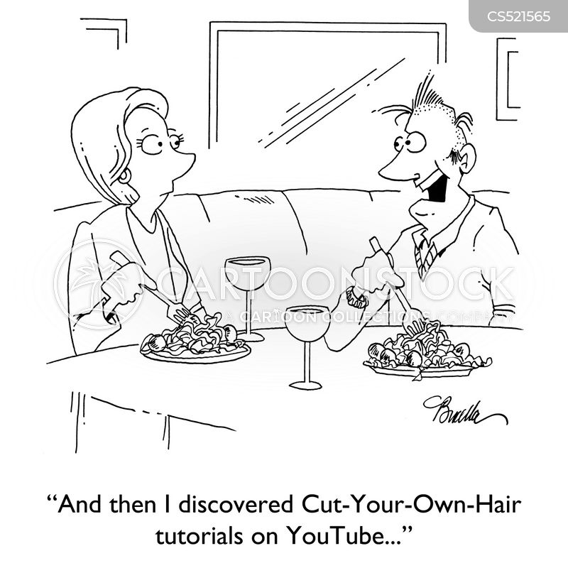 bad haircut cartoon
