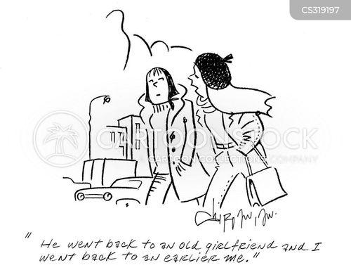 ex relationship cartoon