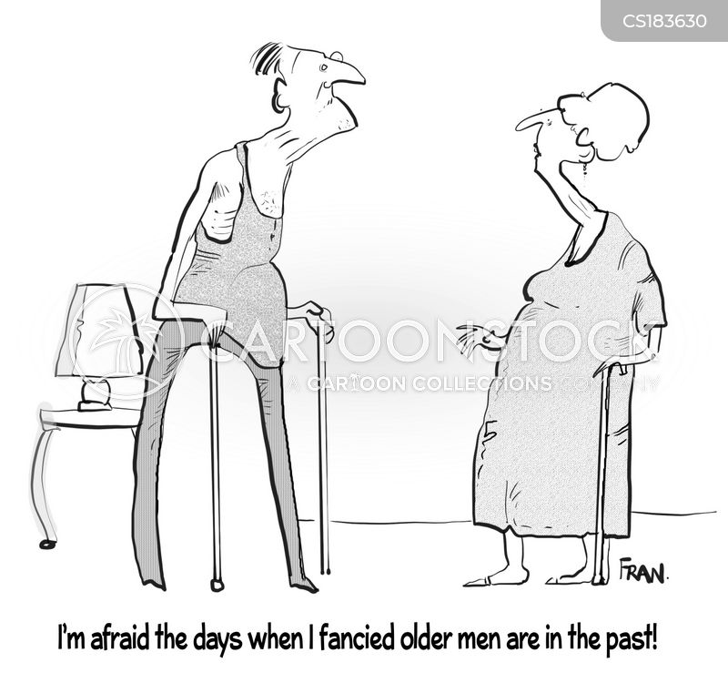 old age pensioners cartoon
