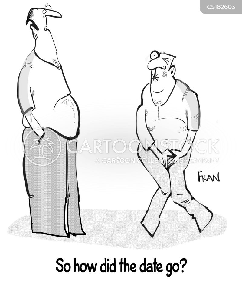 blind dating cartoon
