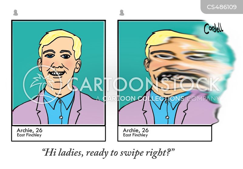 Dating Apps Cartoons and Comics - funny pictures from CartoonStock