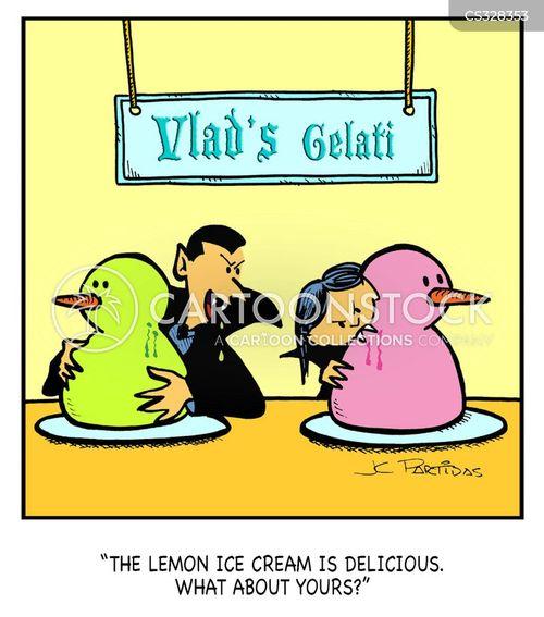 ice cream parlour cartoon
