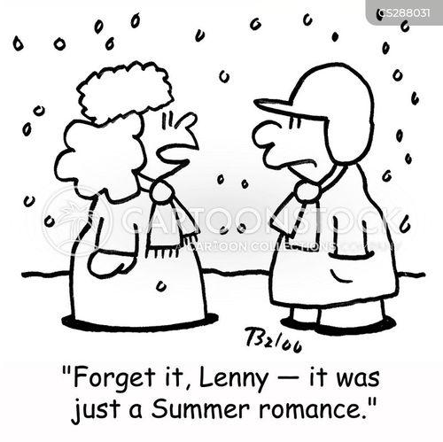 winter romance cartoon