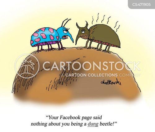 social media profile cartoon