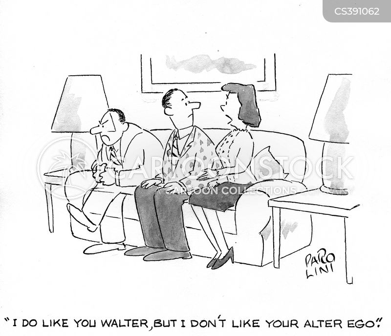 Alter-ego Cartoons and Comics - funny pictures from CartoonStock