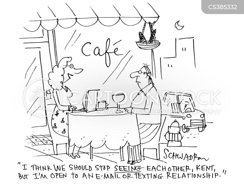 email relationship cartoon