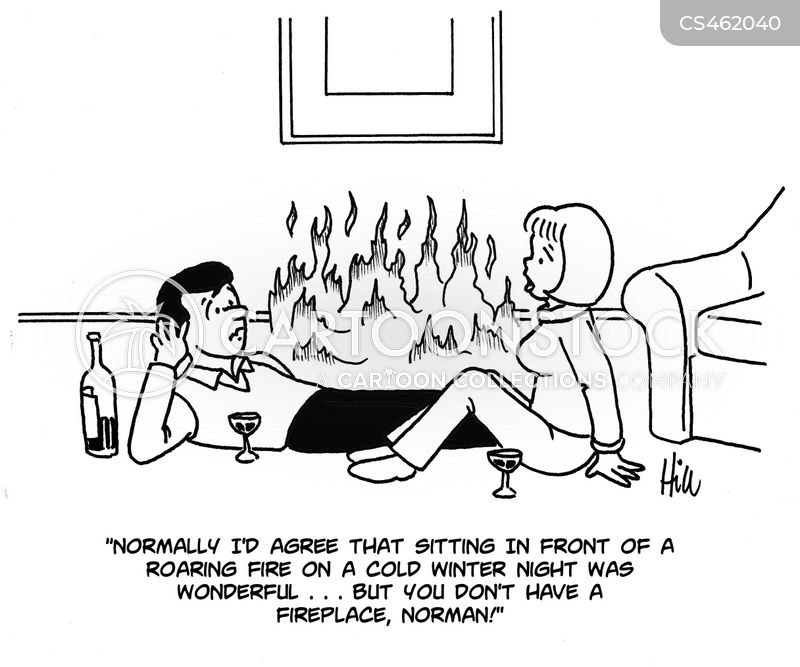 roaring fire cartoon