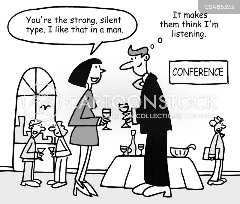 strong silent type cartoon