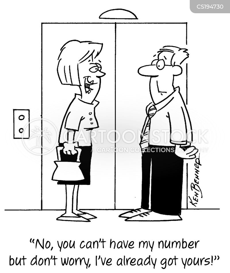 phone numbers cartoon
