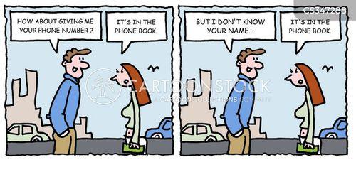 phone book cartoon