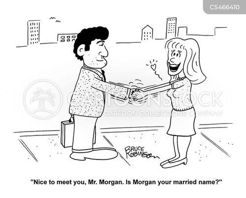 married name cartoon