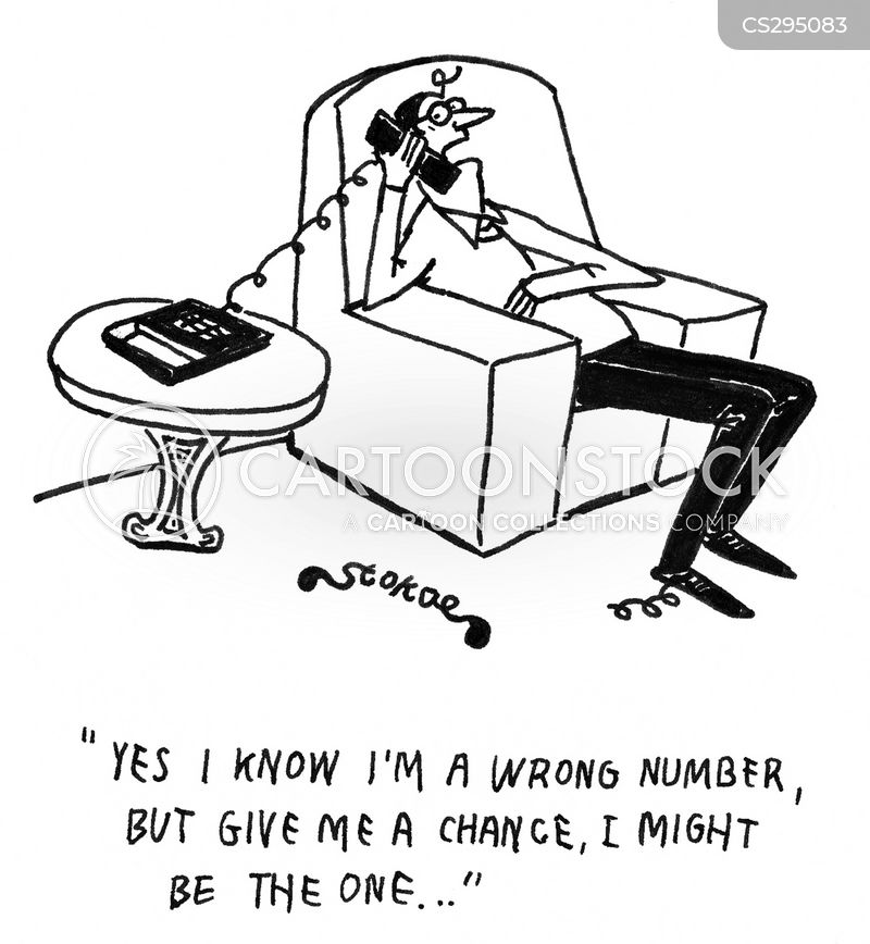 wrong numbers cartoon