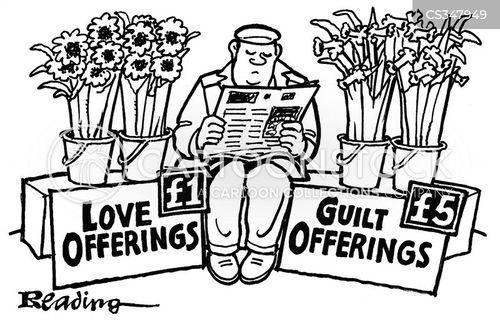 flower sellers cartoon