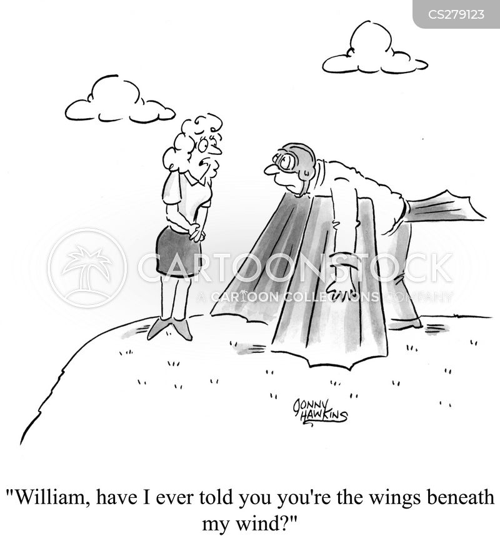 gliders cartoon
