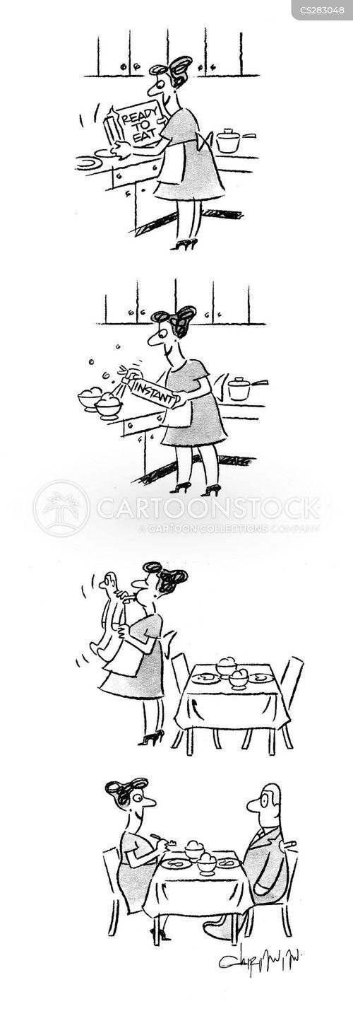 instant food cartoon