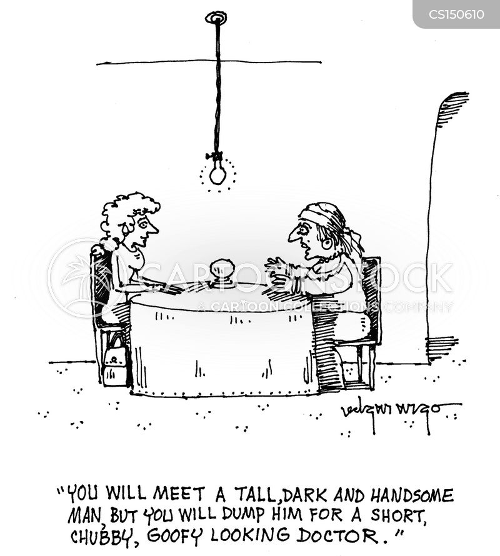 telling fortunes cartoon