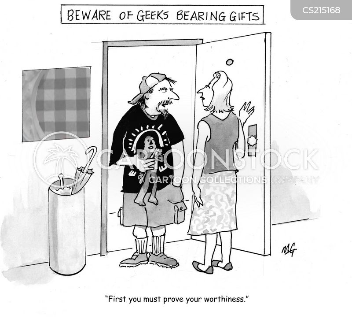 bearing gifts cartoon