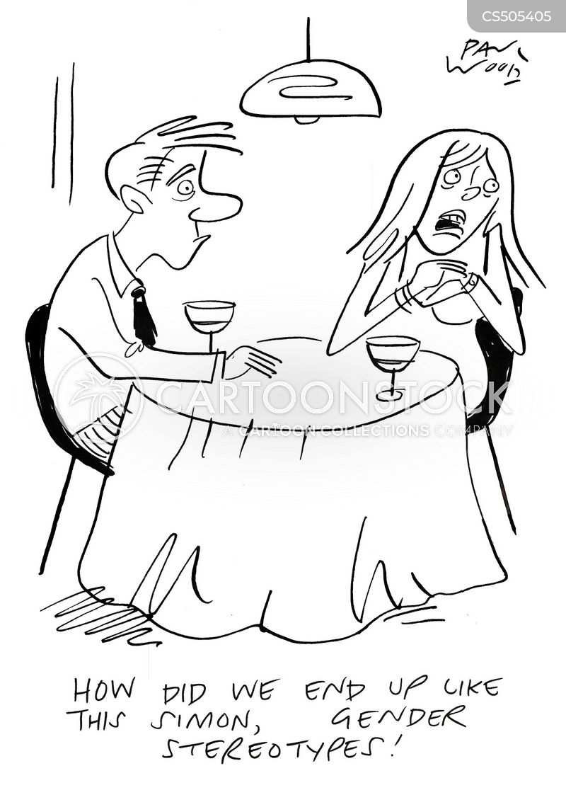 traditional gender role cartoon