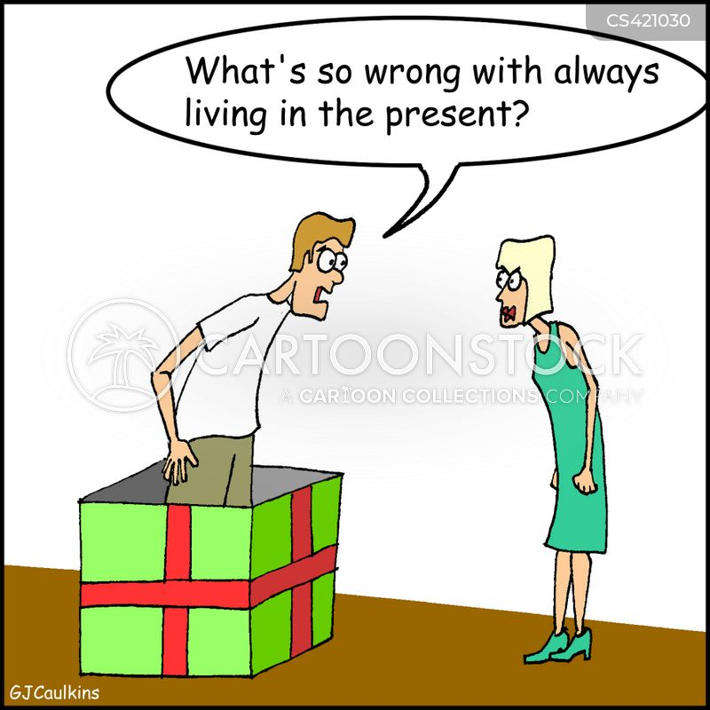 living in the present cartoon