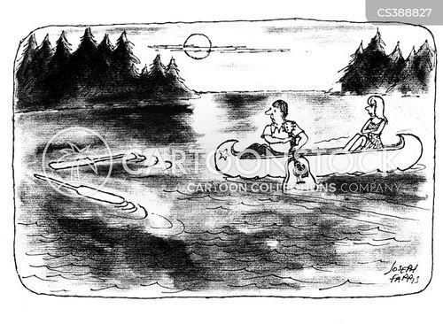 canoeist cartoon