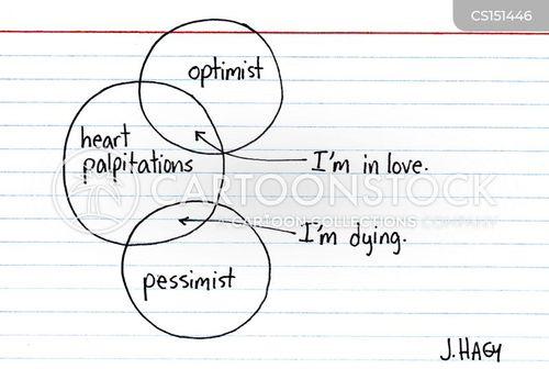 heart palpitation cartoon