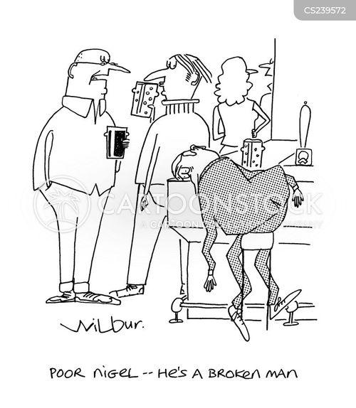broken man cartoon