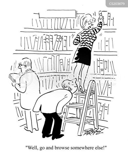 book shelves cartoon