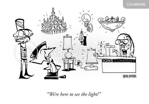 light shops cartoon