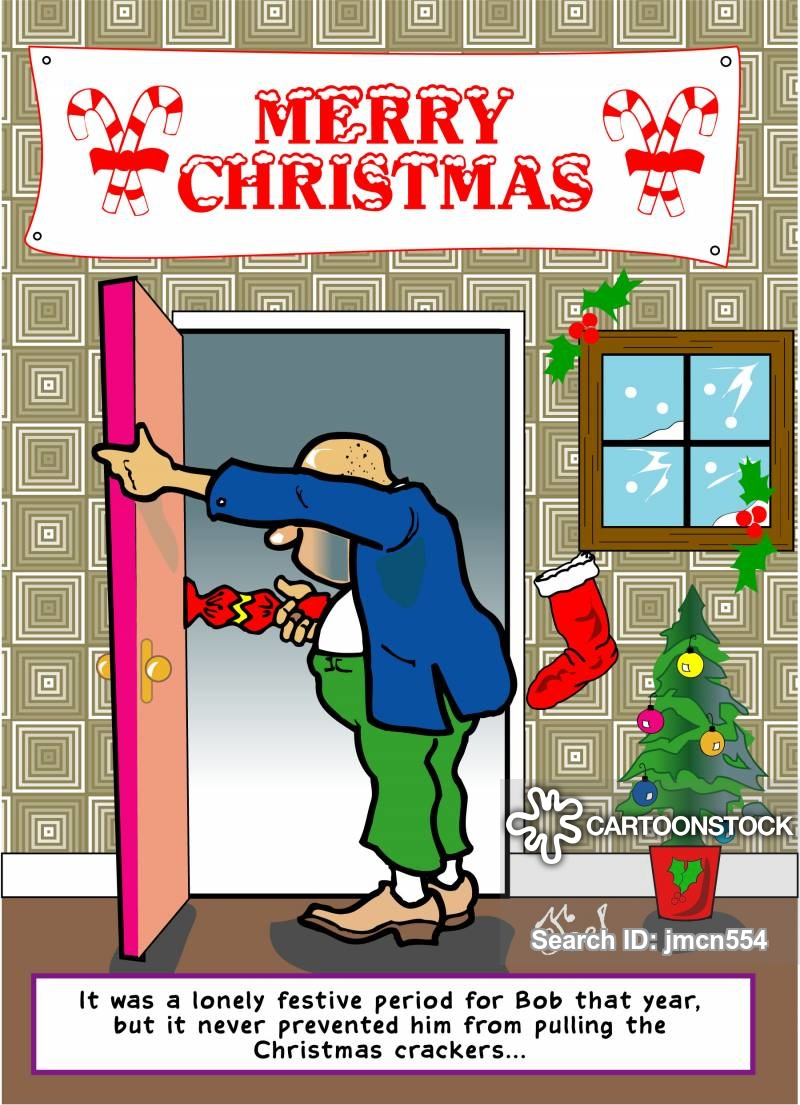 christmas crackers cartoon