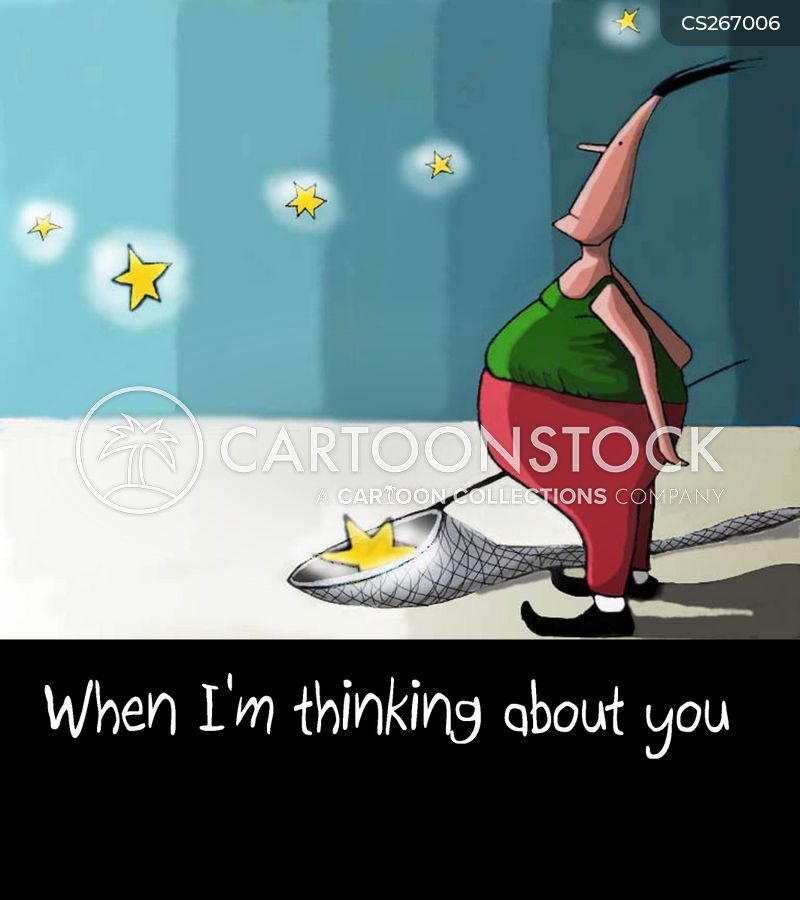 Thinking Of You Cartoons And Comics Funny Pictures From Cartoonstock