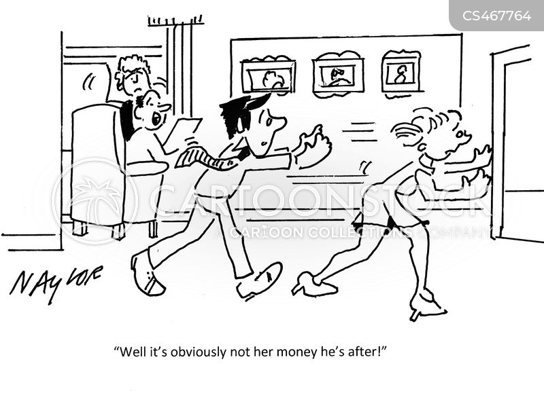 gold-digging cartoon