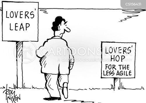lovers leap cartoon