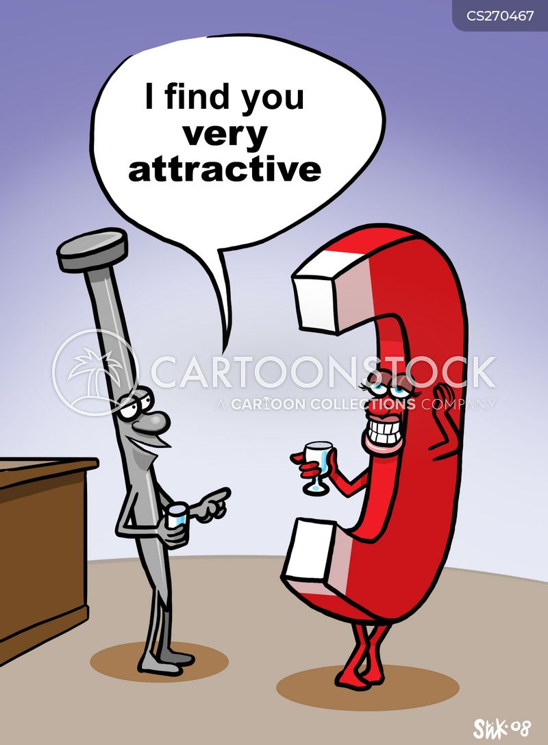 magnetic attractions cartoon