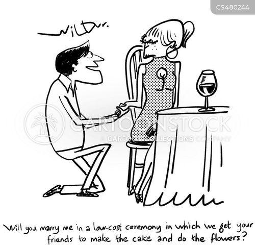 bridal party cartoon