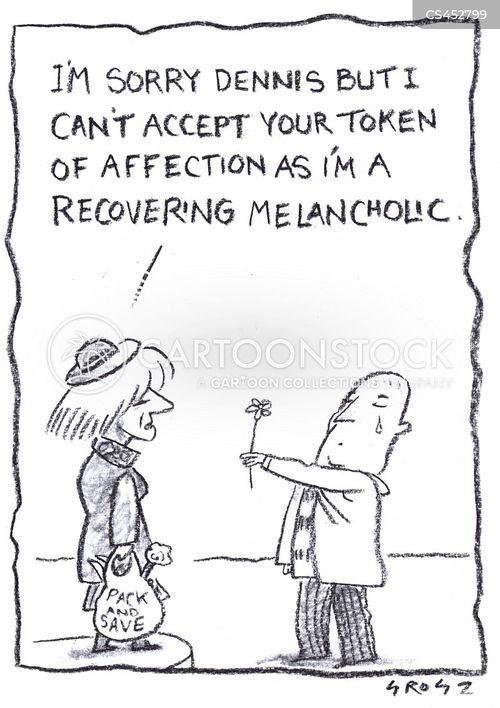 clinical depression cartoon