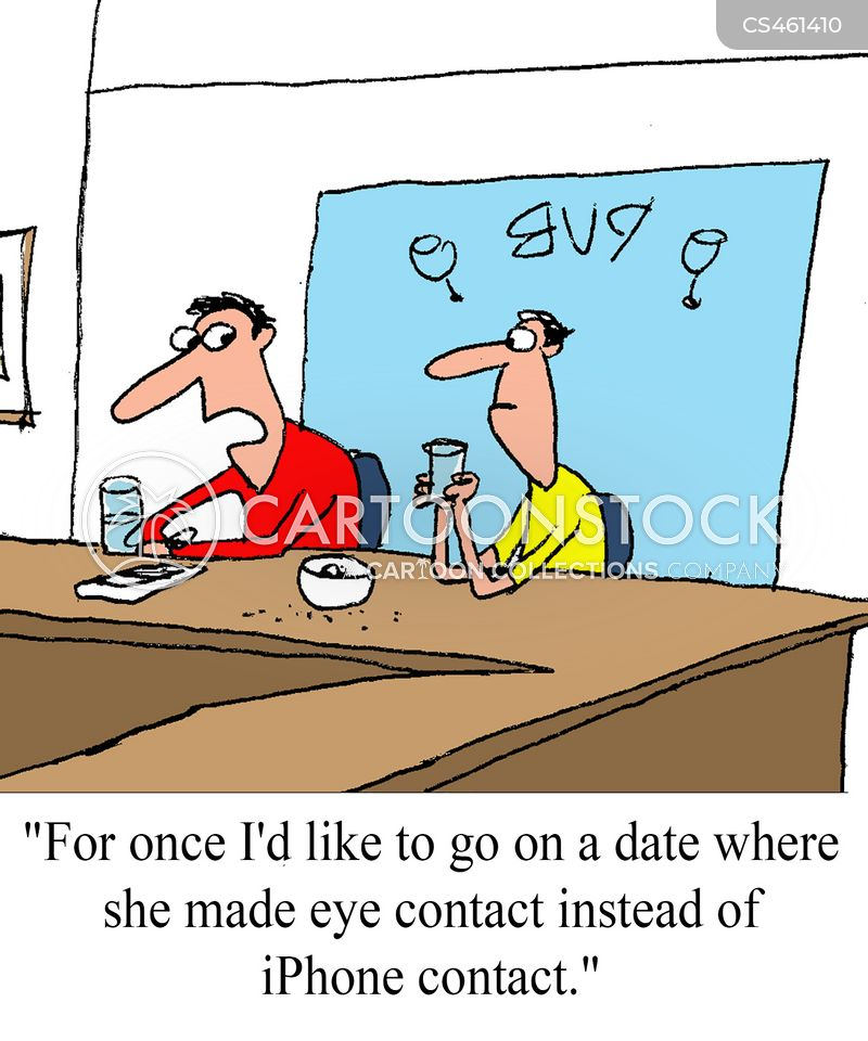 eye-contact cartoon