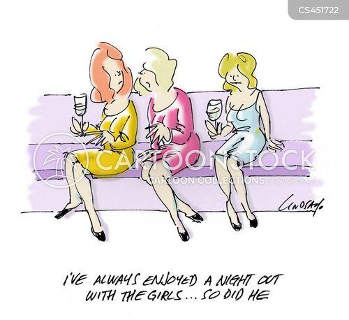 cartoon girls night