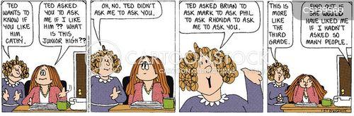 office flirtations cartoon