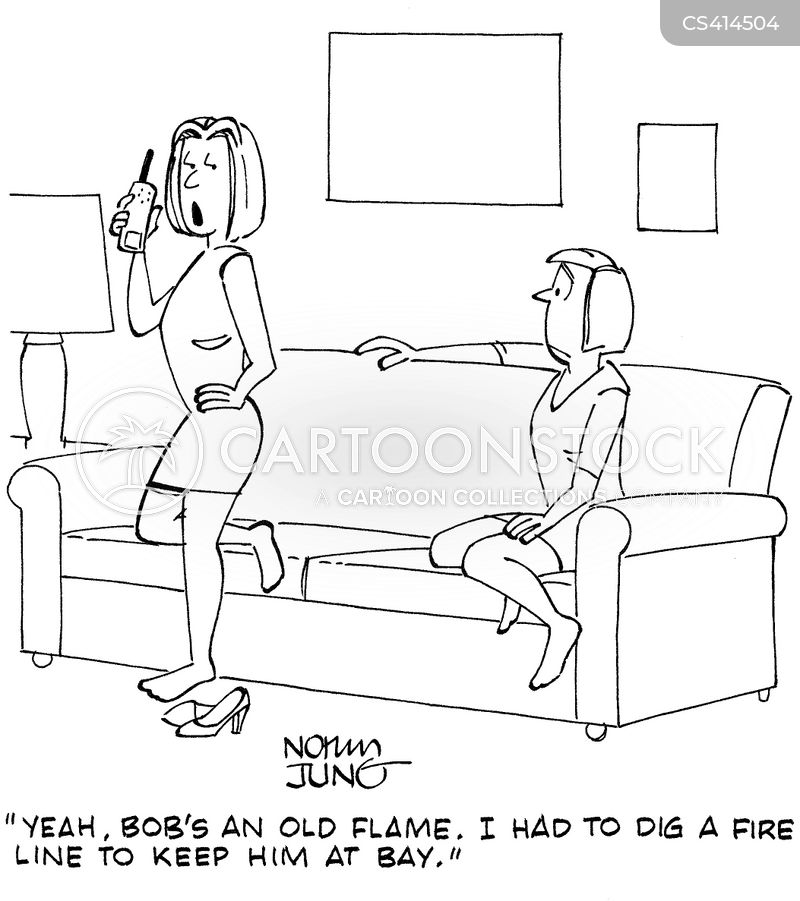 old flames cartoon