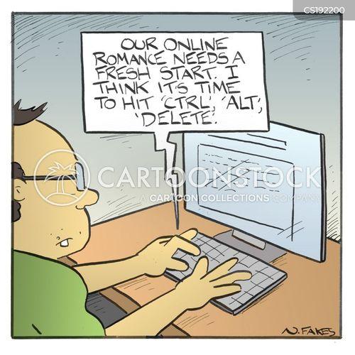 dating site cartoon