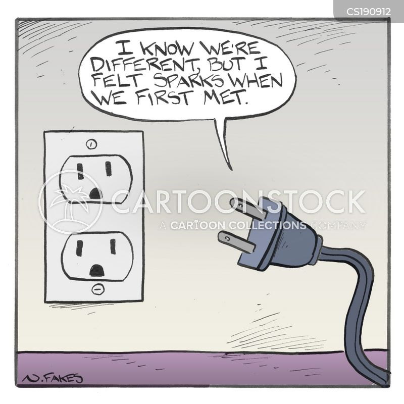 electrical outlets cartoon