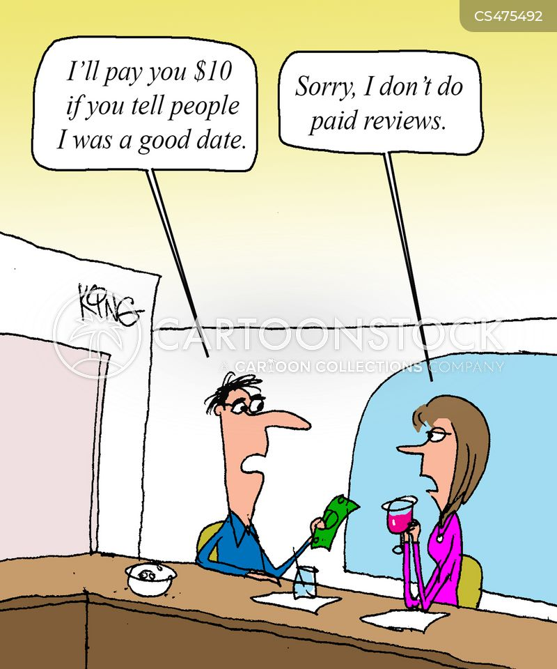 paid review cartoon